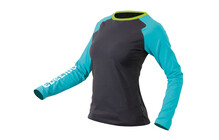 Edelrid Misery t shirt Femme LS gris/bleu